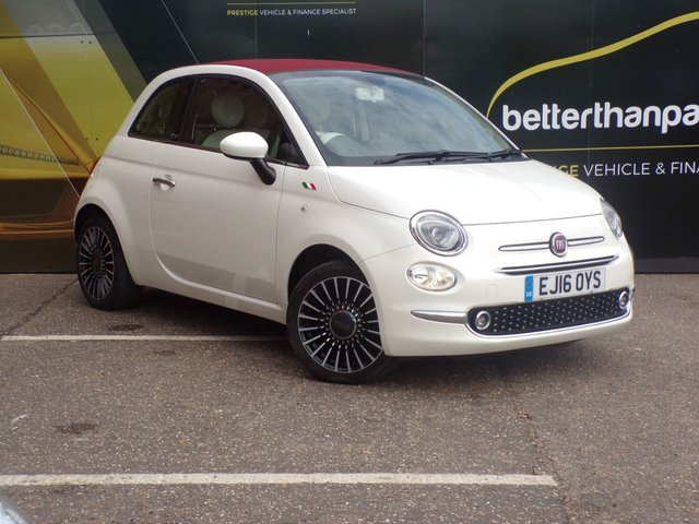 2016 16 FIAT 500 1.2 C LOUNGE 3d 69 BHP CONVERTIBLE ONLY 10,000 MILES