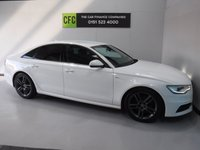 USED 2014 14 AUDI A6 2.0 TDI S LINE 4d 175 BHP ONE PREVIOUS OWNER, SAT NAV, LEATHER SEATS, IBIS WHITE