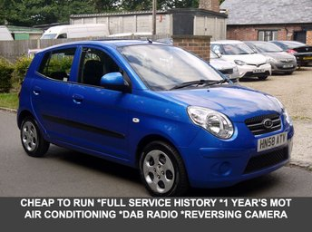 2008 KIA PICANTO 1.1 Chill 5 Door Automatic Hatchback In Blue