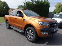 USED 2017 17 FORD RANGER WILDTRAK 4X4 Double Cab Automatic 3.2Tdci 200Ps Direct From Leasing Company With Only 17000 Miles & Ballance Of Ford Warranty Till June 2020