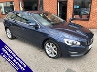 """USED 2013 63 VOLVO V60 2.0 D3 SE 5DOOR AUTO 134 BHP DAB Radio   :   Satellite Navigation   :   USB & AUX Socket   :   Car Hotspot / WiFi      Cruise Control / Speed Limiter   :   Bluetooth Connectivity   :   Climate Control / Air Con     Front & Rear Electric Windows   :   Black Cloth Upholstery   :   Hands Free Voice Control      Rear Parking Sensors   :   17"""" Alloy Wheels   :   Comprehensive Service History"""