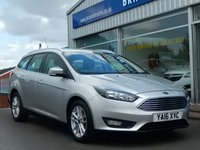 USED 2016 16 FORD FOCUS 1.5 TDCi  ZETEC ESTATE (NAV) 5dr 120bhp ... ONE PRIVATE OWNER. FULL FORD SERVICE HISTORY. (Zero road tax & 74mpg) SAT. NAV.  AIR COND,  LIKE NEW THROUGHOUT.