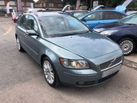 USED 2004 54 VOLVO V50 2.4 SE 5d AUTO 170 BHP GREAT SPEC AUTOMATIC ESTATE CAR, FULL HISTORY, SUPPLIED WITH A NEW MOT