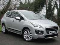 USED 2014 64 PEUGEOT 3008 1.6 HDI ACTIVE 5d * 2 OWNERS FROM NEW * 128 POINT AA INSPECTED * LOW MILEAGE CAR *