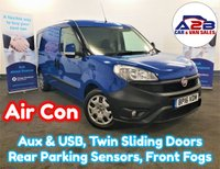 2016 FIAT DOBLO 1.3 16V SX MULTIJET 90 BHP Long Wheel Base in Blue with Air Conditioning, Rear Parking Sensors, Electric Windows & Mirrors and more £5980.00