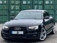USED 2013 63 AUDI A5 2.0 TDI Black Edition Sportback Multitronic 5dr FASH/Heated Seats/B&O/DAB/