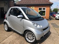 USED 2007 57 SMART FORTWO CABRIO 1.0 PASSION 2d AUTO 70 BHP FINANCE AVAILABLE!