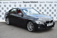 USED 2016 16 BMW 3 SERIES 2.0 320I M SPORT 4d 181 BHP RED LEATHER 19in ALLOYS