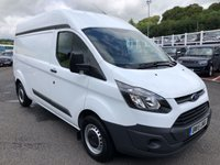 USED 2015 15 FORD TRANSIT CUSTOM 2.2 290 LR P/V 1d 124 BHP Sold with NO VAT