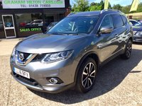 USED 2016 16 NISSAN X-TRAIL 1.6 DCI TEKNA XTRONIC 5d AUTO 130 BHP ONE OWNER, SAT NAV, PANORAMIC ROOF, FULL LEATHER, HEATED SEATS, BLUETOOTH, CRUISE CONTROL, CLIMATE CONTROL, REVERSE CAMERA, PARKING SENSORS, JUST BEEN SERVICED, MOT 02/05/2020, SPARE KEY