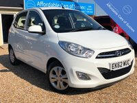 USED 2012 62 HYUNDAI I10 1.2 ACTIVE 5d 85 BHP Low Mileage FSH 5 door Economical Small Hatchback