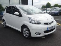 USED 2011 61 TOYOTA AYGO 1.0 VVT-I GO 5d 67 BHP MOT AND SERVICE AND WARRANTY INCLUDED