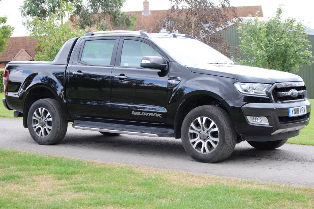USED 2018 18 FORD RANGER 3.2 WILDTRAK 4X4 DCB TDCI 1d AUTO 197 BHP EURO 6 + ONE OWNER - TOW BAR - REAR COVER -