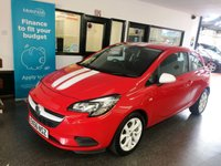 USED 2016 66 VAUXHALL CORSA 1.4 STING ECOFLEX 3d 74 BHP One lady owner, full Vauxhall service history. Supplied with its first Mot due in September. Finished in Magma Red with White Stripes, mirror caps & alloy wheels.