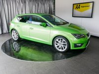 USED 2014 64 SEAT LEON 2.0 TDI FR TECHNOLOGY 5d 184 BHP £0 DEPOSIT FINANCE AVAILABLE, AIR CONDITIONING, AUX INPUT, BLUETOOTH CONNECTIVITY, CLIMATE CONTROL, CRUISE CONTROL, DAB RADIO, DRIVE PERFORMANCE CONTROL, PARKING SENSORS, SEAT SOUND, START/STOP SYSTEM, STEERING WHEEL CONTROLS, TOUCH SCREEN HEAD UNIT, TRIP COMPUTER, USB INPUT
