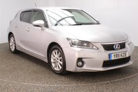 USED 2011 11 LEXUS CT 1.8 200H SE-L PREMIER 5DR SAT NAV HEATED LEATHER 136 BHP HEATED LEATHER SEATS + SATELLITE NAVIGATION + REVERSE CAMERA + BLUETOOTH + PARKING SENSOR + CRUISE CONTROL + CLIMATE CONTROL + MULTI FUNCTION WHEEL + MEMORY SEATS + XENON HEADLIGHTS + PRIVACY GLASS + ELECTRIC WINDOWS + DAB RADIO + ELECTRIC MIRRORS + 16 INCH ALLOY WHEELS