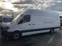 USED 2014 14 MERCEDES-BENZ SPRINTER 2.1 313CDI XLWB SUPER HIGH ROOF 130BHP. RARE VAN. FINANCE 1 OWNER. F/S/H. EXTRA LONG. SUPER HIGH ROOF. FINANCE. PX