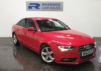 USED 2013 63 AUDI A4 2.0 TDI SE 4d 134 BHP FINANCE AVAILABLE FROM 7.9% APR