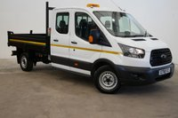 2018 FORD TRANSIT 2.0 350 L3 DOUBLE CAB TIPPER 130 BHP  (EURO 6 ULEZ) £17990.00