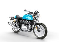 USED 2019 ROYAL ENFIELD CONTINENTAL GT VENTURA BLUE & BLACK MAGIC