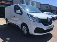 USED 2016 16 RENAULT TRAFIC 1.6 SL29 SPORT ENERGY DCI L1 H1 120 BHP FSH, SATNAV, BLUETOOTH, P/SENSORS, FINANCE ARRANGED & RENAULT WARRANTY. Full Renault service history - last service on 8/10/18 @ 52,660, only 59,000 Miles, SAT NAV, A/C, E/W, Bluetooth, Alloys, media connectivity, cruise control, DAB Radio, rear parking sensors, colour coded, Drivers airbag, factory fitted bulk head, Side loading door, spare key, remaining Renault warranty until April 2020 & finance arranged on site