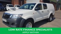 USED 2016 65 TOYOTA HI-LUX 2.5 ACTIVE 4X4 D-4D DCB 1d 142 BHP 1 OWNER F/S/H 2 KEYS FREE 12 MONTHS WARRANTY COVER