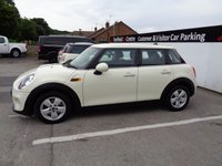 USED 2016 16 MINI HATCH COOPER 1.5 COOPER 5 door  134 BHP white bluetooth multimedia system Full Dealer Service History air conditioning alloy wheels 1 owner £20 road tax 65 mpg