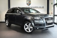 "USED 2013 62 AUDI Q7 3.0 TDI QUATTRO S LINE 5DR AUTO 245 BHP full audi service history * NO ADMIN FEES * FINISHED IN STUNNING DAYTONA METALLIC GREY WITH FULL BLACK LEATHER INTERIOR + FULL AUDI SERVICE HISTORY + SATELLITE NAVIGATION + BLUETOOTH + REAR-VIEW CAMERA + HEATED SEATS + BOSE SURROUND SOUND + DUAL CLIMATE CONTROL + HEATED MIRRROS + PARKING SENSORS + 20"" ALLOY WHEELS"