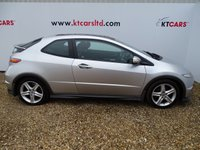 "USED 2008 08 HONDA CIVIC 1.8 I-VTEC TYPE-S GT 3d 139 BHP + MOT JULY 2020 + FULL SERVICE HISTORY, 10 STAMPS + LAST OWNER SINCE 2013 + PARKING SENSORS + CRUISE CONTROL + 3 MONTHS WARRANTY + AUTO LIGHTS + CLIMATE CONTROL + 17"" ALLOYS +"