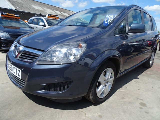 USED 2010 60 VAUXHALL ZAFIRA 1.6 EXCLUSIV 7 SEATER GREAT MILES