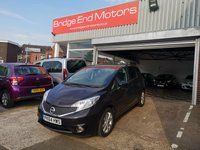 USED 2014 64 NISSAN NOTE 1.2 TEKNA DIG-S 5d AUTO 98 BHP ONLY 3192 MILES FROM NEW!! 1 OWNER FROM NEW, £30 A YEAR ROAD TAX, LOW CO2 EMISSIONS, TOP SPEC TEKNA WITH SAT NAV, PRIVACY GLASS, CLIMATE CONTROL/AIR CON, HALF LEATHER TRIM, ALLOY WHEELS, 360 CAMERAS, BLUETOOTH, MEDIA INPUT, CRUISE CONTROL, ECO MODE, STOP START