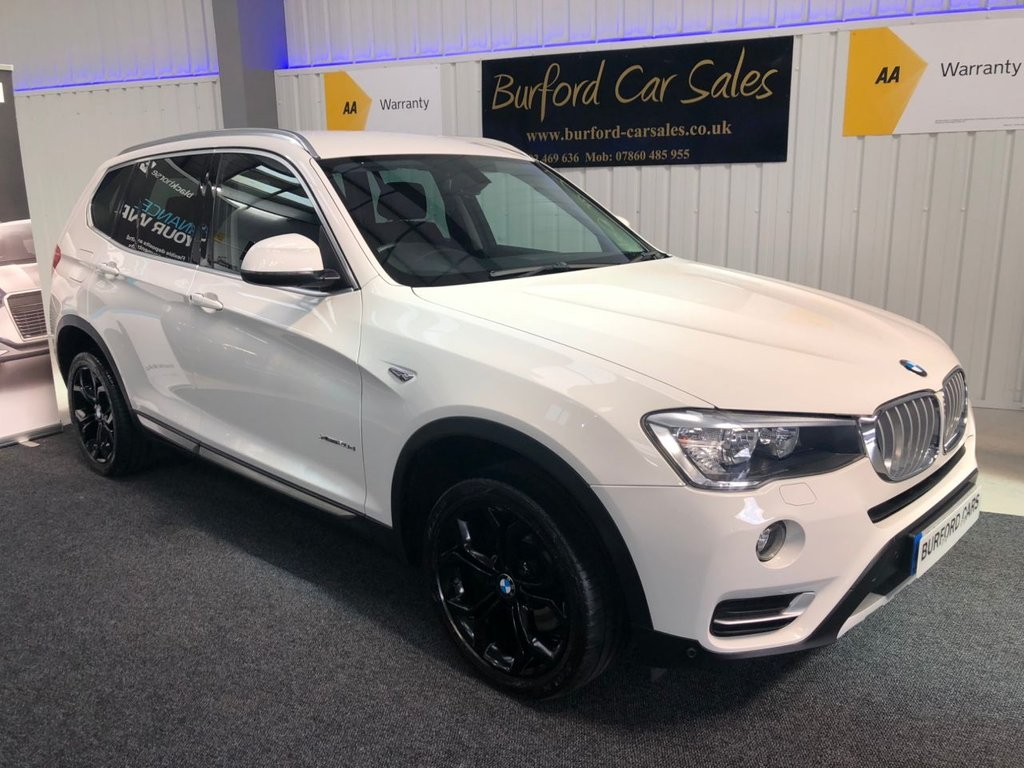 USED 2015 65 BMW X3 2.0 XDRIVE20D XLINE 5d AUTO 188 BHP BUY NOW PAY LATER!