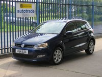 USED 2014 14 VOLKSWAGEN POLO 1.2 MATCH EDITION 5dr Cruise Privacy Park sensors Alloys Low Miles,Service History