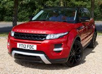 """USED 2012 12 LAND ROVER RANGE ROVER EVOQUE 2.2 SD4 DYNAMIC LUX 5d AUTO 190 BHP/ SAT NAV/ HEATED SEATS FULLY LOADED RANGE ROVER EVOQUE 2.2 SD4 DYNAMIC LUX WITH REVERSING CAMERA/ SAT NAV/ HEATED SEATS/ LEATHER SEATS/ CRUISE CONTROL/ BLUETOOTH/ WITH FULL SERVICE HISTORY/ NEW SERVICE @95K MILEAGE/ MOT 24/05/2020/ ROAD TAX £235,-/ WARRANTY/ 2 KEYS/ HPI CLEARED/  BOOK A TEST DRIVE TODAY! APPLY FOR A CAR FINANCE ON OUR WEBSITE PAGE """"FINANCE""""."""