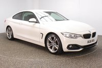 USED 2016 16 BMW 4 SERIES 2.0 420D SPORT 2DR SAT NAV HEATED LEATHER SEATS 1 OWNER 188 BHP BMW SERVICE HISTORY + HEATED LEATHER SEATS + SATELLITE NAVIGATION + PARKING SENSOR + BLUETOOTH + CRUISE CONTROL + CLIMATE CONTROL + MULTI FUNCTION WHEEL + DAB RADIO + XENON HEADLIGHTS + ELECTRIC WINDOWS + ELECTRIC MIRRORS + 18 INCH ALLOY WHEELS