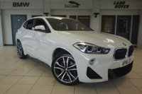 USED 2018 18 BMW X2 2.0 SDRIVE20I M SPORT 5d AUTO 190 BHP 1 OWNER FINISHED IN STUNNING ALPINE WHITE WITH HEATED FULL BLACK LEATHER SEATS + SATELLITE NAVIGATION  + PIANO BLACK INLAY + 1 OWNER FROM NEW + SERVICED AT BMW LESS THAN 100 MILES AGO + SPORTS AUTOMATIC WITH PADDLE SHIFT + CRUISE CONTROL + PARKING SENSORS + MULTIFUNCTION M-SPORT STEERING WHEEL +  ACTIVE GUARD INCLUDING SPEED LIMITING AND LANE DEPARTURE FUNCTIONS WITH AUTO STEERING, AND FRONT COLLISION WARNING WITH BRAKE INTERVENTION + DAB RADIO + BLUETOOTH INCLUDING BLUETOOTH MEDIA + CLIMATE CONTROLLED