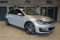 USED 2016 16 VOLKSWAGEN GOLF 2.0 GTD DSG 5DR AUTO 182 BHP  FINISHED IN STUNNING METALLIC SILVER WITH SPORT UPHOLSTERY + FULL SERVICE HISTORY + SATELLITE NAVIGATION + BLUETOOTH + HEATED SEATS + DAB RADIO + CRUISE CONTROL + HEATED ELECTRIC FOLDING MIRRORS + PARKING SENSORS + ALLOY WHEELS