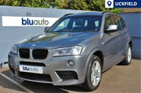USED 2013 63 BMW X3 XDRIVE 2.0D M SPORT 5d AUTO 181 BHP One Private Owner with Full BMW Service History; Front & Rear Sensors with Visual Proximity Display, Full Leather with Heated Seats, Electric Sun-Roof, Satellite Navigation, Bluetooth & DAB Radio...