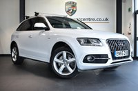 "USED 2016 65 AUDI Q5 2.0 TDI QUATTRO S LINE 5DR AUTO 187 BHP full service history * NO ADMIN FEES * FINISHED IN STUNNING WHITE WITH FULL BLACK LEATHER INTERIOR + FULL SERVICE HISTORY + BLUETOOTH + HEATED SEATS + DAB RADIO + CRUISE CONTROL + HEATED MIRRORS + PARKING SENSORS + 19"" ALLOY WHEELS"
