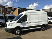 USED 2015 65 FORD TRANSIT 2.2TDCI T350 LWB HIGH ROOF L3 H3 125BHP. 85K. F/S/H. 1 OWNER. PX LOW 85K MLS. 1 OWNER. FINANCE. WARRANTY. PX WELCOME