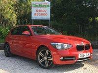 USED 2014 64 BMW 1 SERIES 2.0 116D SPORT 5dr £30 Tax, Parking Sensors