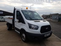 2017 FORD TRANSIT 2.0 350 SINGLE CAB ONE STOP SHOP TIPPER DRW 130 BHP WITH AIRCON  £17695.00