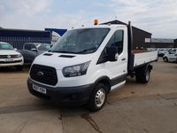 USED 2017 67 FORD TRANSIT 2.0 350 SINGLE CAB ONE STOP SHOP TIPPER DRW 130 BHP WITH AIRCON