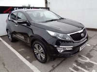 USED 2015 15 KIA SPORTAGE 1.7 CRDI 3 ISG 5 door  114 BHP black £249 A Month With No Deposit Panoramic Roof Privacy Glass Climate Control Parking Sensors Full Leather Trim 18 Inc Alloys