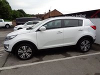 USED 2015 15 KIA SPORTAGE 1.7 CRDI 3 SAT NAV ISG 5d 114 BHP £262 A MONTH WITH NO DEPOSIT 18 INC ALLOYS FULL LEATHER TRIM SAT NAV PANORAMIC ROOF PARKING SENSORS PRIVACY GLASS