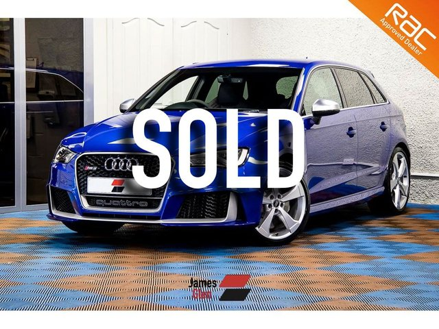 USED 2016 16 AUDI A3 2.5 RS3 SPORTBACK QUATTRO NAV 5d AUTO 362 BHP One Owner | Three Audi Services