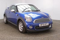 USED 2015 15 MINI COUPE 1.6 COOPER PEPPER PACK 2DR SAT NAV 1 OWNER 120 BHP FULL SERVICE HISTORY + SATELLITE NAVIGATION + PARKING SENSOR + BLUETOOTH + CRUISE CONTROL + CLIMATE CONTROL + DAB RADIO + ELECTRIC WINDOWS + RADIO/CD/AUX/USB + ELECTRIC MIRRORS + 15 INCH ALLOY WHEELS