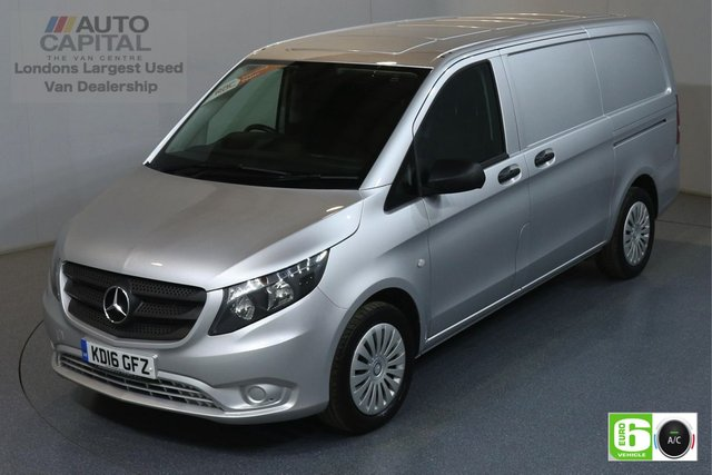 2016 16 MERCEDES-BENZ VITO 2.1 116 BLUETEC 163 BHP LWB AUTO EURO 6 ENGINE AUTO, AIR CON, PARKING SENSORS