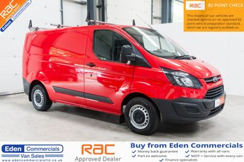2016 FORD TRANSIT CUSTOM 2.2 270 LR P/V * FINISHED IN RACE RED * £10395.00