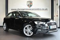 """USED 2015 15 AUDI A3 1.6 TDI S LINE [SAT NAV] 3DR 109 BHP full service hisory * NO ADMIN FEES * FINISHED IN STUNNING MITHOS BLACK WITH HALF LEATHER INTERIOR + FULL SERVICE HISTORY + SATELLITE NAVIGATION + BLUETOOTH + DAB RADIO + CLIMATE CONTROL + HEATED MIRRORS + 18"""" ALLOY WHEELS"""